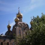 Строящий храм Святой Троицы
