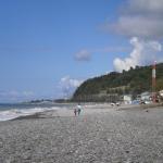Широкий пляж в Волконке